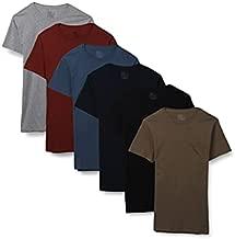 Fruit of the Loom Men's Short Sleeve Pocket T-Shirt, 6 Pack-Assorted Colors, Large