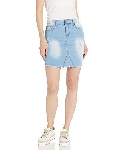 Acid Wash Midi Skirt