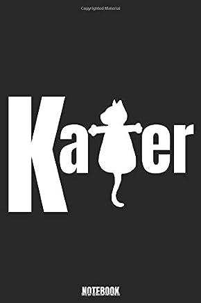 Kater NOTEBOOK: Punktraster Notizbuch mit schönem Katerdesign für Katzenliebhaber
