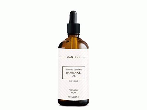 Dan-Dur Aceite de Bakuchiol para el cuidado de la piel, antienvejecimiento, antiarrugas, 100% puro y orgánico, prensado en frío (30ml)