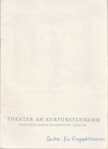 Programmheft Jean-Paul Sartre: Die Eingeschlossenen Premiere 25 November 1960 Spielzeit 1960 / 61