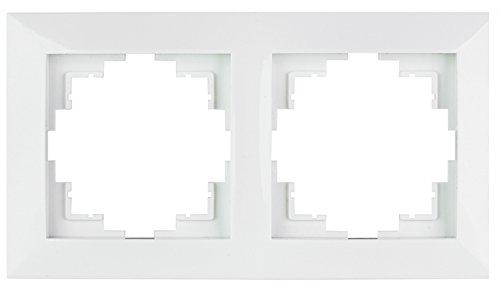 Abdeckrahmen aus Kunststoff 2-fach, weiß, (Abdeckrahmen 2-fach, Kunststoff weiß)