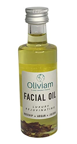 Vegan Facial Oil by Oliviam - Vegan Palm Free Cruelty Free Face Oil - Natural anti-aging essential oils for younger looking skin