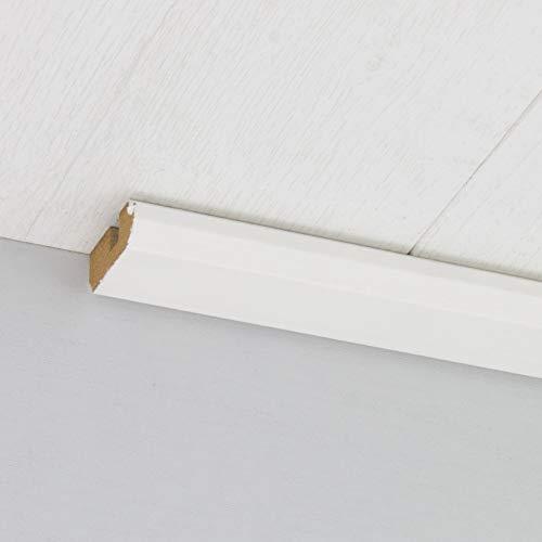 Paneel-Abschlussleiste Abdeckleiste mit Schattenfuge aus MDF in Birke weiß 2600 x 35 x 17 mm