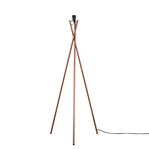 Modern Copper Metal Tripod Floor Lamp Base