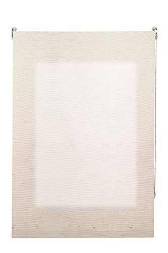 Decorestor Estor Translucido Lino Premium A Medida. Ancho de 40 a 300 cm. Lino Blanco Crudo. Permite Gran Paso de luz, Guarda tu intimidad. Estores enrollables traslucidos para Ventanas y Puertas