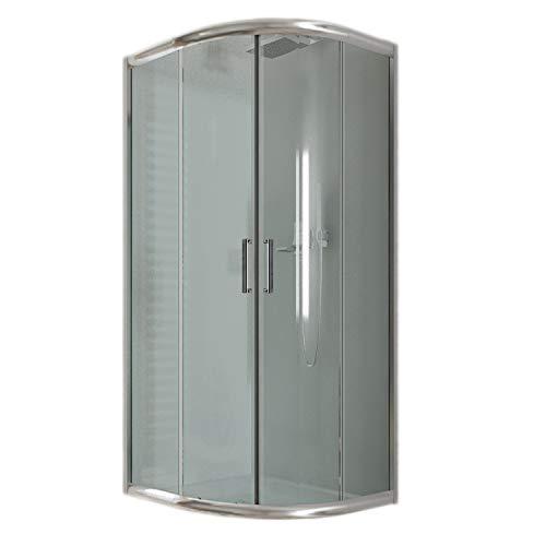 Cabina de ducha semicircular 80 x 80 x 185 H transparente 6 mm