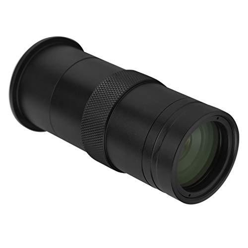 EVTSCAN Lente de Montaje en C con Zoom de 25 mm, Lente de cámara de microscopio Industrial CCD, Lupa de cámara 8X-100X, para cámara de microscopio Industrial