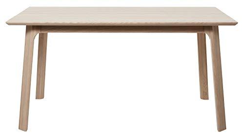 24Designs Haslund Eettafel - L200 X B95 X H75 Cm - Eiken Whitewash