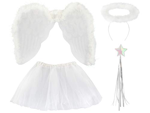 ISO TRADE Disfraz de ángel - Disfraz de ángel para el belén - 4 Piezas #3069