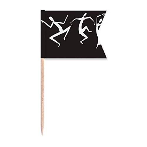 """Beauty Gift Antikes Ã""""gypten Abstraktes Dekoratives Muster Markierung für die Kennzeichnung von Zahnstocher-Flaggen"""
