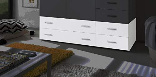 AVANTI TRENDSTORE - Balu 2 e 3, Armadio Inferiore, componimento per l'armadio Principale, con cassetti, in 2 Diversi Colori e 2 Diverse larghezze (Bianco, con 4 cassetti)