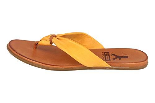 MUSTANG Shoes Zehentrenner in Übergrößen Gelb 8003-702-6 große Damenschuhe, Größe:44