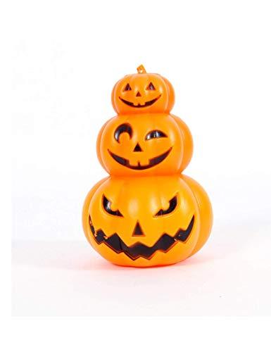 Abenily - Lámpara de decoración de calabaza de Halloween con tres capas para decoración de fiesta de Halloween