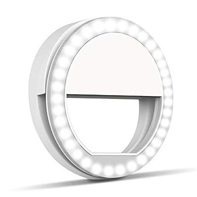 Selfie Ring Light,Hongdayi Clip On Selfie Light for Phone Camera 3-Level Brightness Mini Selfie LED Camera Light for iPhone,iPad,Sumsung Galaxy,Sony, Motorola,Smart Phones,Photography,Video by Hongdayi