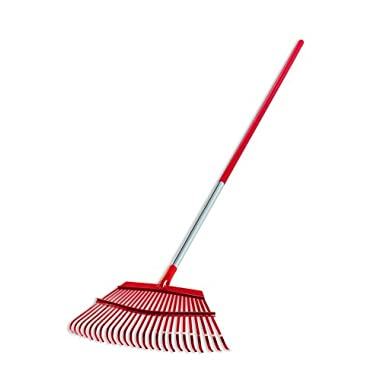 Corona RK 62061 Fixed Tine Leaf Rake, Aluminum Handle, 19-Inch Wide