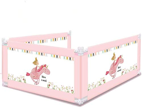 WYH Bettzaun, Baby Bettschutzgitter Fallsicher Bettzaun Baby Fallsicher Bettgitter 2 Meter Universal Bettsteg langlebig (Größe : 150cm)