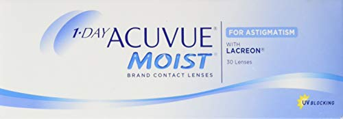 Acuvue 1-Day Acuvue Moist For Astigmatism Tageslinsen weich, 30 Stück/ BC 8.5 mm / DIA 14.5 mm/ CYL -2.25 / ACHSE 170 / -0.5 Dioptrien