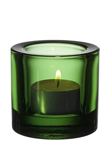 Iittala Kivi - Stimmungsbeleuchtung / Teelichthalter / Windlicht - Grün - Glas - Ø 6 cm - Höhe 6 cm