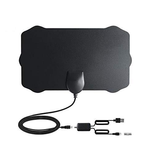 TV Antena Digital HDTV Antenas amplificadas en Interiores Arial Freeview 980 Millas Amplificador de Refuerzo de señal de Alcance