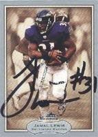Jamal Lewis Baltimore Ravens 2003 Fleer Showcase Autographed Card. This item comes with a certificate of authenticity from Autograph-Sports. Autographed