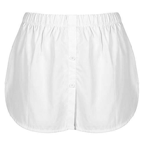 DXQDXQ Minifalda Extensible de Camisa Unisex Falda Barrido Inferior Superior con Capas...