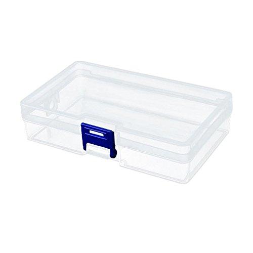 1 boîte de rangement vide en plastique transparent pour ongles, décorations, 2AU3.