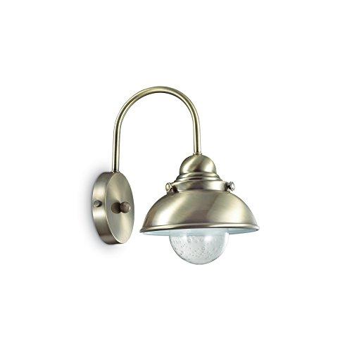 L'Aquila Design Arredamenti Ideal Lux Lampe à paroi Sailor AP1 – Bruni et Monture en métal
