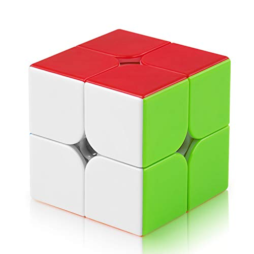FAVNIC Cubo mágico Original 2x2x2 Cubo de juguete mágico secuencial de giro rápido y suave Rompecabezas 3D Rompecabezas (Cubo mágico 2x2)