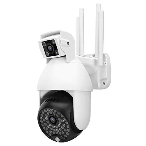 Cámara de vigilancia, cámara WiFi, Soporte a Prueba de Agua IP66 para/iOS Phone Garden Home Home Security System(European regulations)
