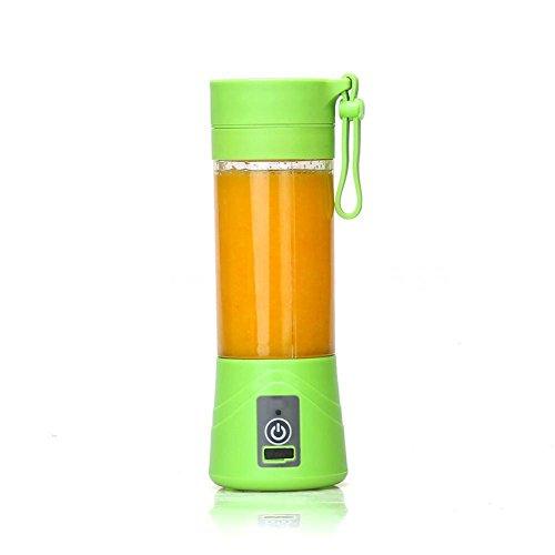 Steellwingsf 1PC portatile 380ml Bottiglia di succo frullatore spremiagrumi mini spremiagrumi elettrico Cup taglia unica Green