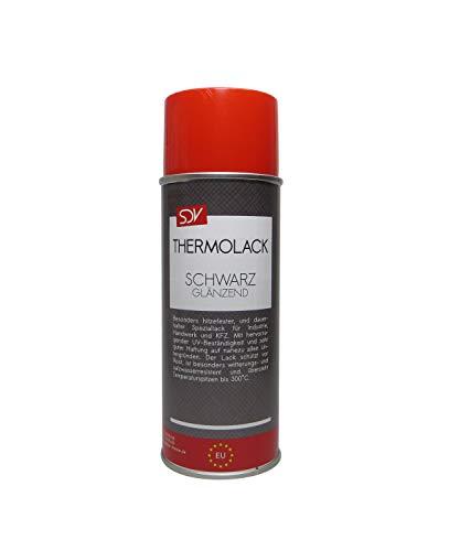 SDV Chemie Thermolack Spray schwarz glänzend bis 300°C 1x 400ml Auspufflack Ofenlack Motorlack Grill Lack
