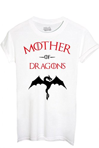 MUSH T-Shirt Mother of Dragons Game of Thrones-Film by Dress Your Style - Donna-S-Bianca