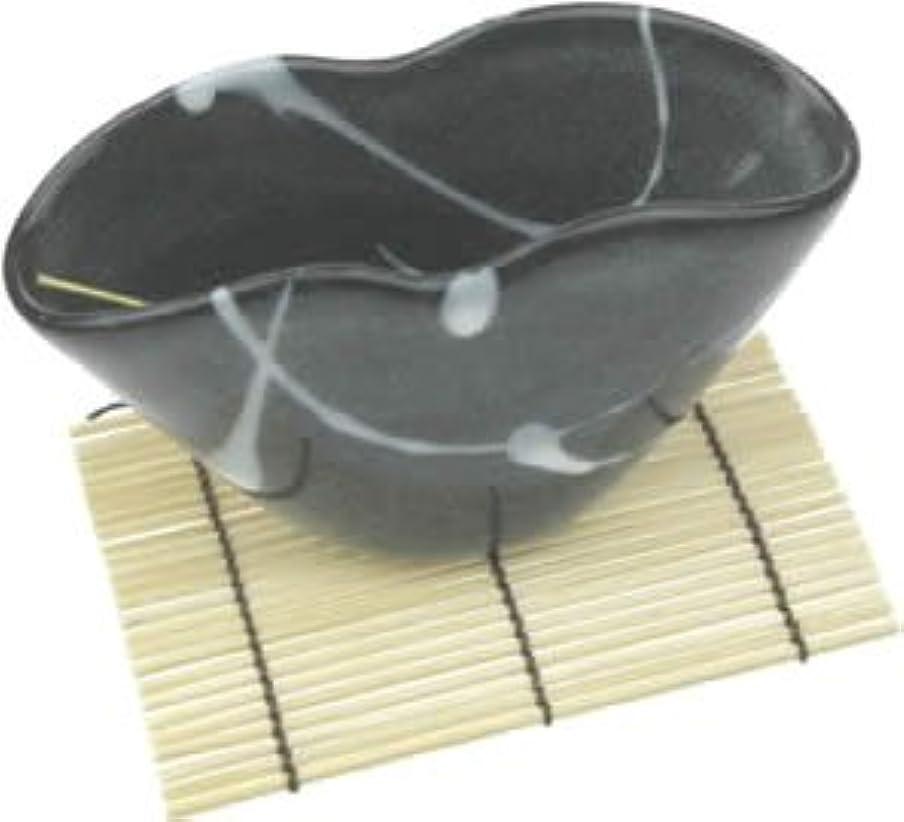 盆真珠のような方程式波のしずく(黒) うずまき用香立