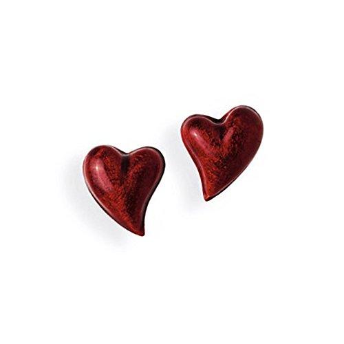 Heartbreaker rote Herz Ohrstecker aus Echtsilber | Kollektion Crown of my Heart | Ohrringe aus 925 Sterlingsilber | Herz Ohrringe für Damen | LD LP 23 RM