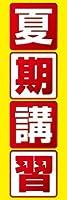 のぼり旗スタジオ のぼり旗 夏期講習007 通常サイズ H1800mm×W600mm