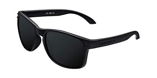 Northweek Bold All Black - Gafas de Sol para Hombre y Mujer, Polarizadas, Negro