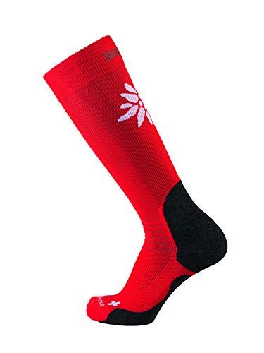 Sigvaris Mountain Chaussettes de Montagne Unisexe pour Adulte XS Rouge