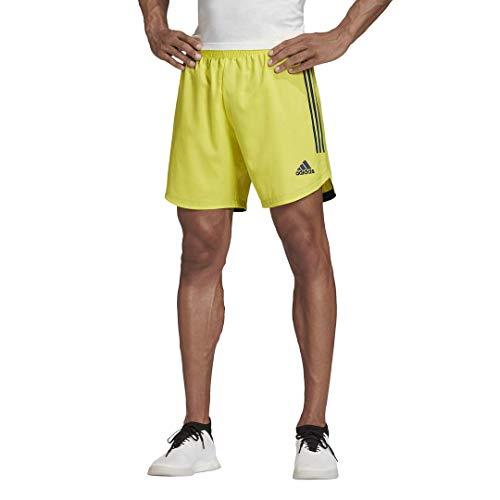 adidas Condivo 20 - Pantalones cortos para hombre - GLF00, Condivo 20 - Pantalones cortos, S, Amarillo/azul marino.