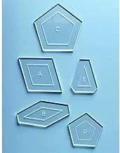 La Passacaglia Quilt Templates - Millefiori Quilts 1 by Willyne Hammerstein (Original 1/4 Seam Allowance)