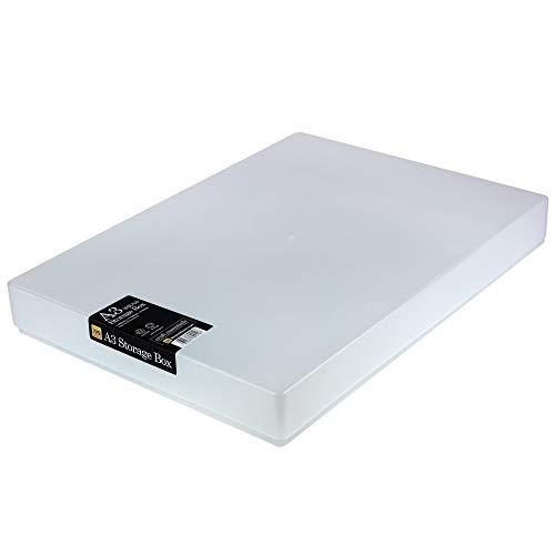 WestonBoxes - SRA3-opbergdoos, bevat een riem van SRA3- of A3-papier van 80 g / m2, ideaal voor opslag onder het bed met meer dan 8 liter volume (2 Stuks)