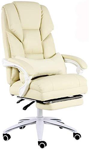 CSD Stuhl Home Office Chair Spiel Live-Chair 170 ° Reclinable Design Komfort Rücken Boss Stuhl Bearing Gewicht 200 kg (Color : Beige)