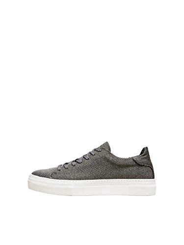 SELECTED HOMME Male Sneakers Kompakte Textil 44Grey