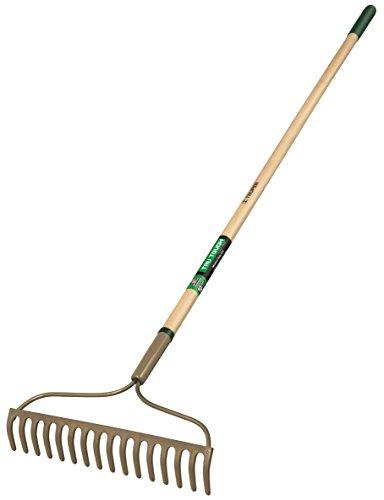 Truper 31356 Tru Tough 54-Inch 16 Teeth Welded Bow Rake, Wood Handle, 6-Inch Grip