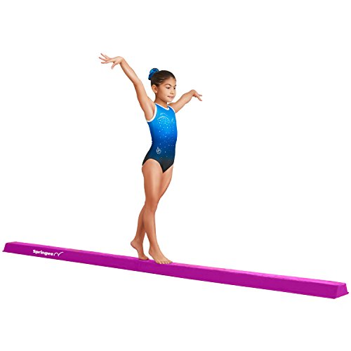Springee 10ft Balance Beam - Extra Firm - Suede Folding Gymnastics Beam for Home - Purple