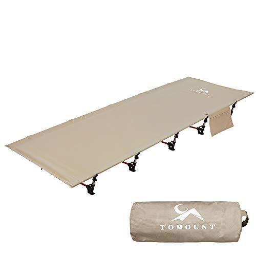 TOMOUNT アウトドアベッド キャンプコット 折りたたみ ベッド 軽量 耐荷重150kg 簡易ベッド コンパクト 防水 通気性 防災 収納ケース付き