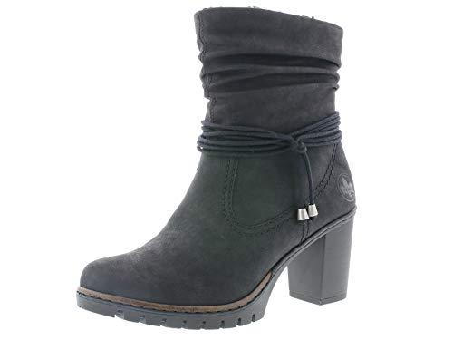 Rieker Damen Stiefeletten Y2591, Frauen Stiefelette, Women Woman Freizeit leger Stiefel Boots halbstiefel Bootie Damen,schwarz,40 EU / 6.5 UK