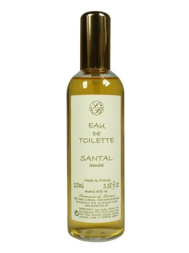 Savonnerie de Bormes: Eau de Toilette Sandelholz (Santal), 100 ml Flasche mit Zerstäuber (Spray)