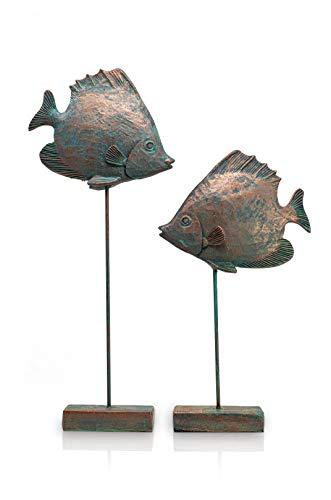 Blümelhuber Decoracion marinera de peces – bonita decoracion de hogar, habitacion o baño para colocar en el alféizar de la ventana , aparadores u otros muebles