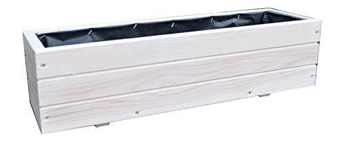 Fioriere in legno per piante ideali per giardino balcone e terrazzo già montati D6 bianco